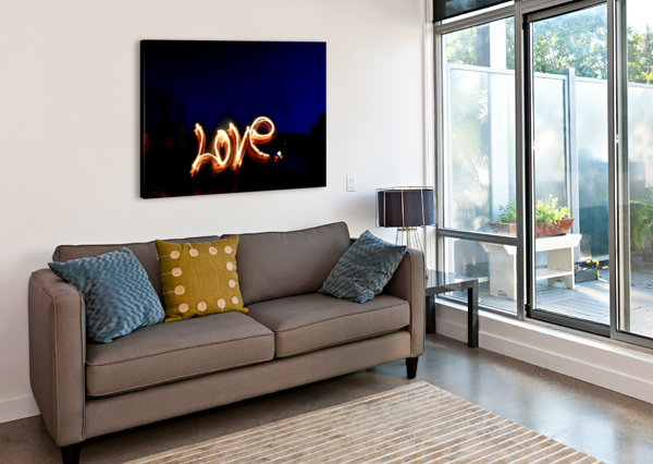 LOVE LIGHTS SCULPTURE  JOHNNYPHOTOFREAK  Canvas Print