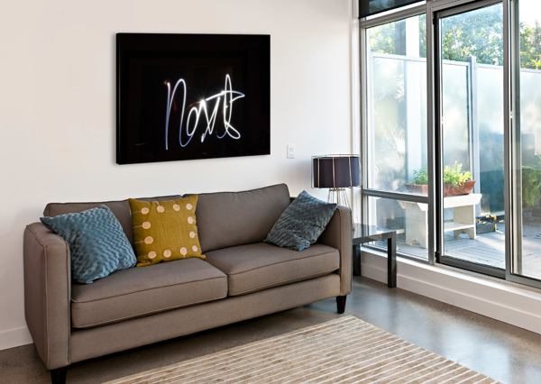 NEXT LIGHT PAINTING JOHNNYPHOTOFREAK  Canvas Print