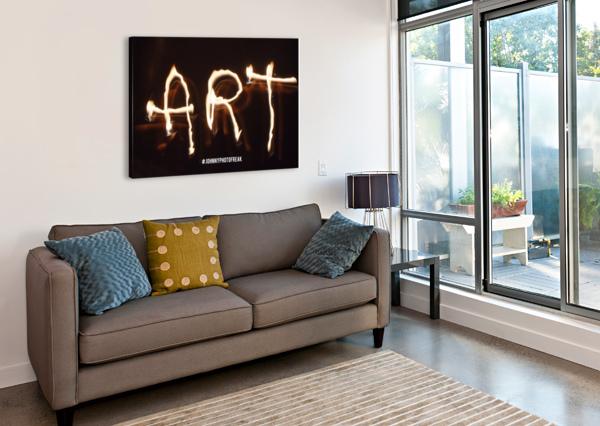 FIRE ART JOHNNYPHOTOFREAK  Canvas Print