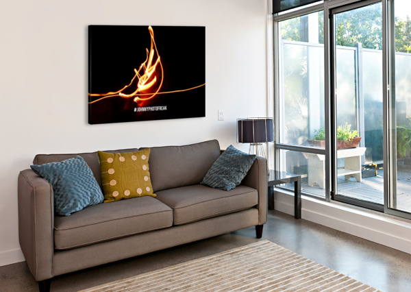 FIRE LEAF JOHNNYPHOTOFREAK  Canvas Print