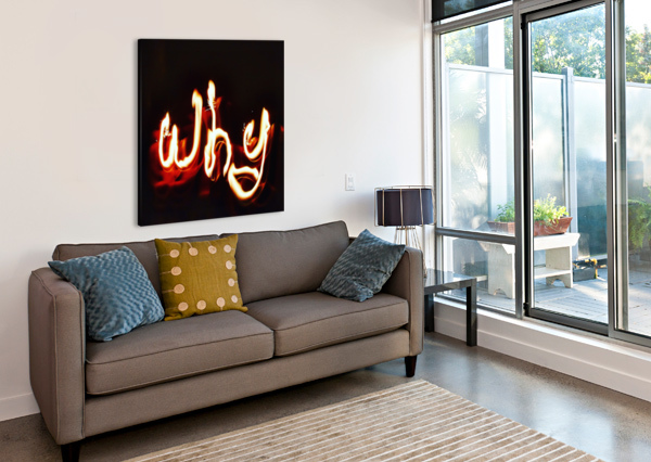 WHY WORD JOHNNYPHOTOFREAK  Canvas Print