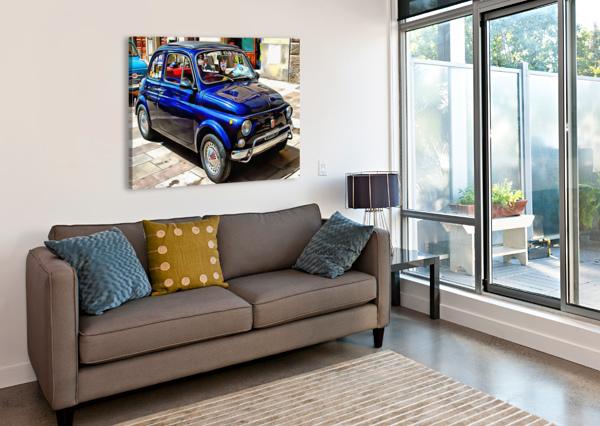 FIAT 500 DARK BLUE VERSION DOROTHY BERRY-LOUND  Canvas Print