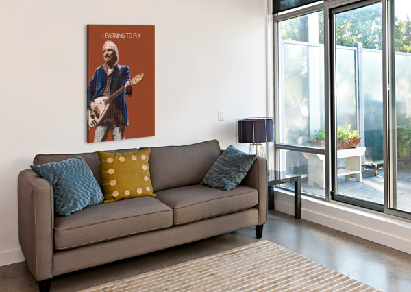 LEARNING TO FLY   TOM PETTY & THE HEARTBREAKERS GUNAWAN RB  Canvas Print