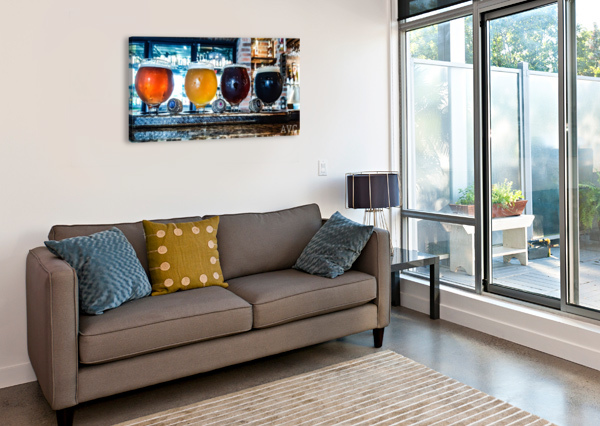 GOOD BEER WITH GOOD FRIENDS ANGELINA V CORONADO  Canvas Print