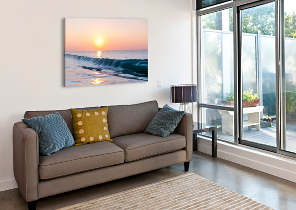 SMOOTH WAVE  LUCAS MOORE  Canvas Print