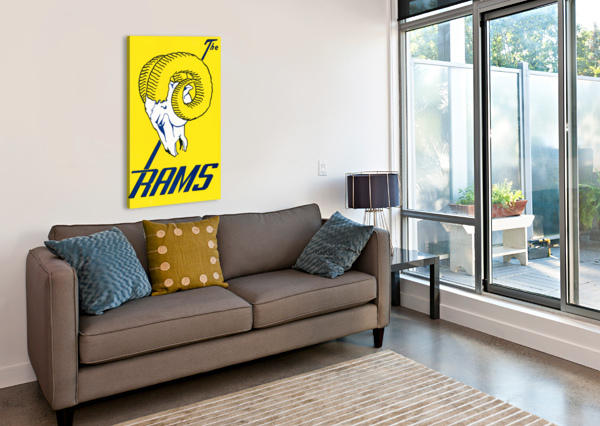 VINTAGE LOS ANGELES RAMS ART ROW ONE BRAND  Canvas Print