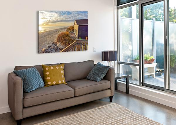 OAK ISLAND PIER VIEW DON MARGULIS  Canvas Print