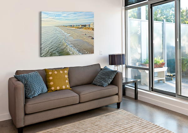 OAK ISLAND PIER VIEW2  DON MARGULIS  Canvas Print