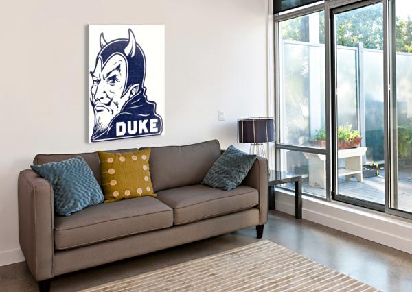 1950S DUKE UNIVERSITY BLUE DEVIL COLLEGE ART ROW ONE BRAND  Canvas Print