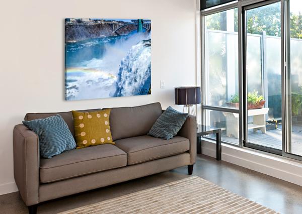 WATERFALL RAINBOW ANGELINA V CORONADO  Canvas Print