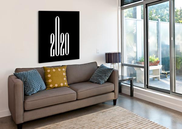 FUCK OFF 2020-2 MIDDLE FINGER EDIT VOROS  Canvas Print