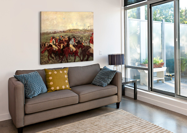 MEN S RIDERS BEFORE THE START BY DEGAS DEGAS  Canvas Print