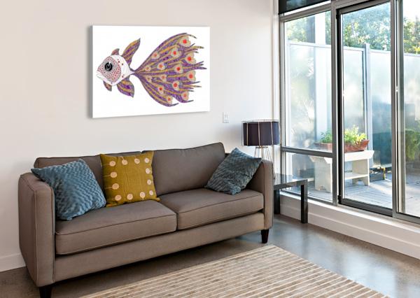 HEART FISH FEDERICOCORTESE  Canvas Print