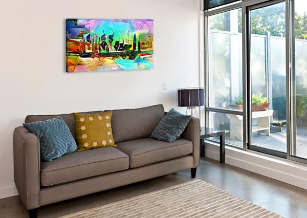 CITY5 SHIP ZIGZAG  Canvas Print