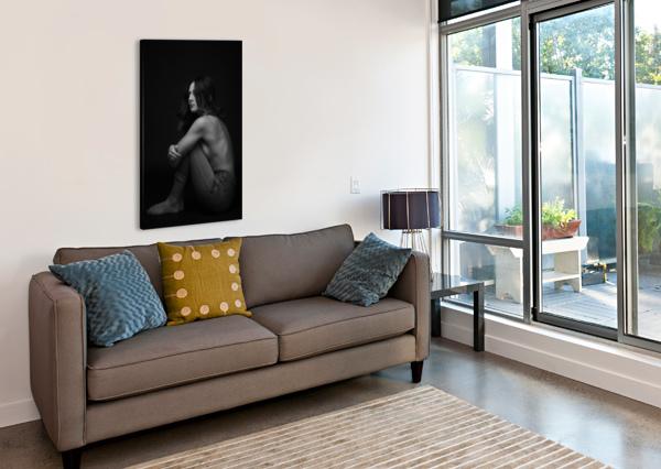 BLACK AND WHITE WOMAN PORTRAIT 1 CARLOSDOESPHOTO  Canvas Print