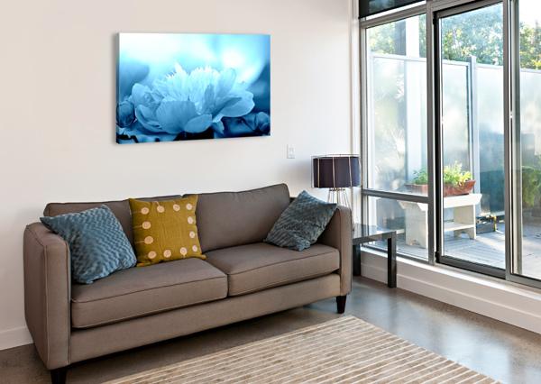 HEAVENLY PEONY AQUA BLUE JOAN HAN  Canvas Print