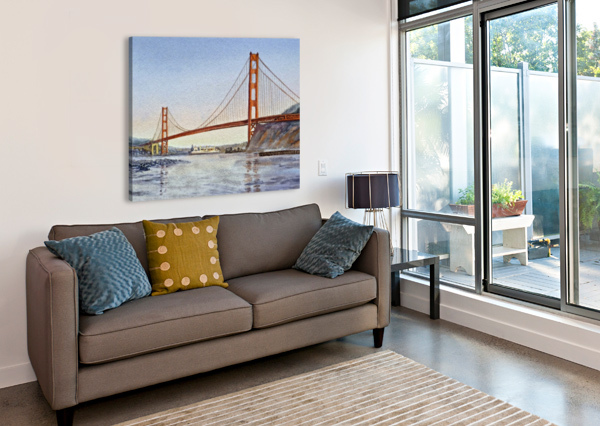 SAN FRANCISCO CALIFORNIA GOLDEN GATE BRIDGE IRINA SZTUKOWSKI  Canvas Print
