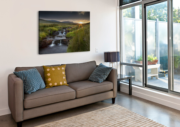 RIVER TAWE SUNSET LEIGHTON COLLINS  Canvas Print
