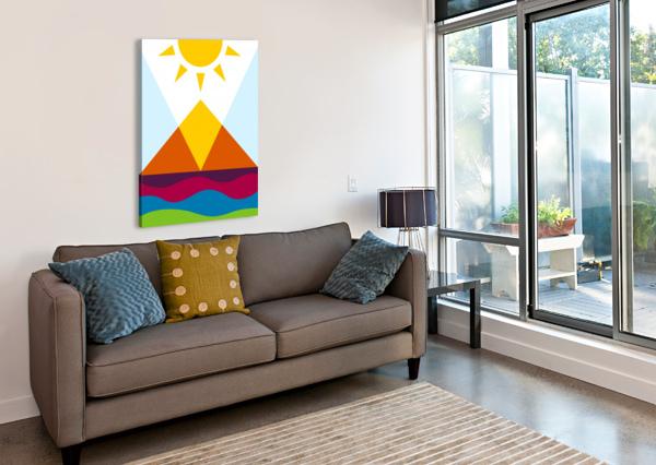 THE PYRAMID WPAPRINT  Canvas Print