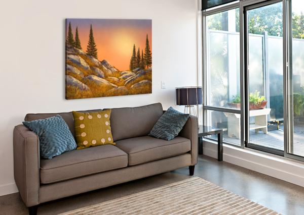 SUNSET SPRUCES FRANK WILSON  Canvas Print