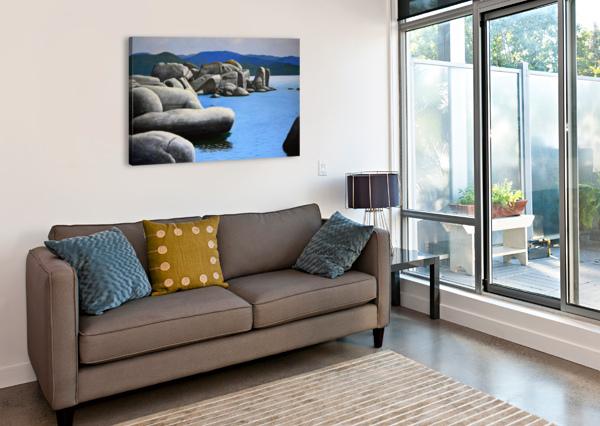 LAKE TAHOE ROCKY COVE FRANK WILSON  Canvas Print
