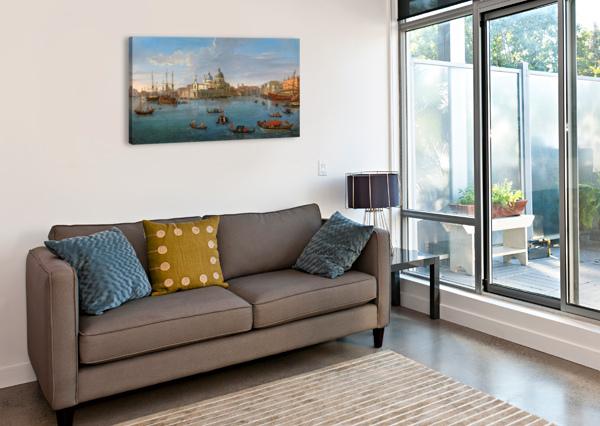 A VIEW OF VENICE CASPAR VAN WITTEL  Canvas Print