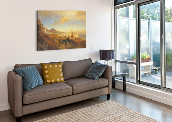 VIEW OF NAPLES CASPAR VAN WITTEL  Canvas Print