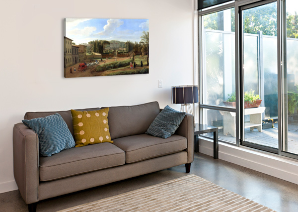 A VIEW OF THE VILLA ALDOBRANDINI CASPAR VAN WITTEL  Canvas Print