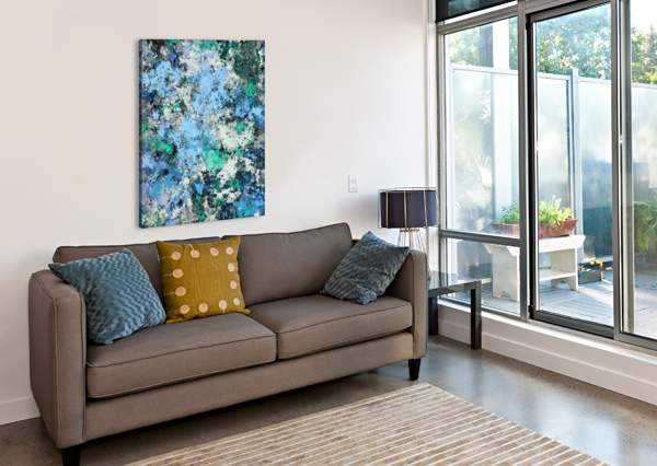 BIG WATER KEITH MILLS  Canvas Print