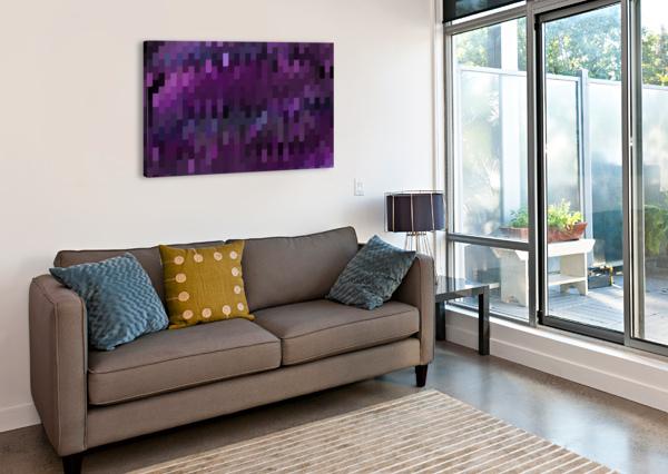 BLUE MOSAIC PATTERN RIZU_DESIGNS  Canvas Print