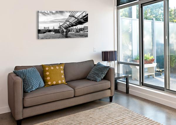 RIVER THAMES - LONDON CITY SKYLINE BENTIVOGLIO PHOTOGRAPHY  Canvas Print