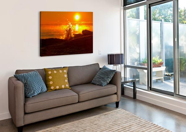 LAKE MICHIGAN SUNRISE  BERN E KING PHOTOGRAPHY  Canvas Print