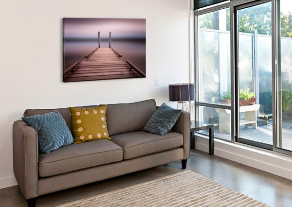 THE JETTY ON COMOX LAKE LEIGHTON COLLINS  Canvas Print