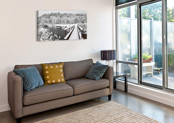 RUGBY PITCH BRIDGE- WINTER ANGELINA V CORONADO  Canvas Print