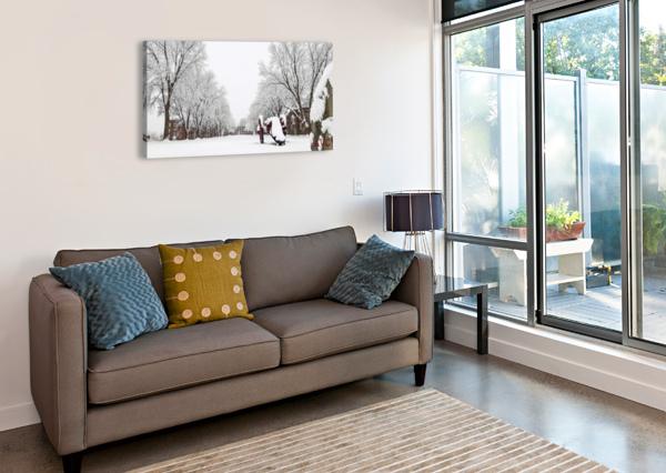 PARADE GROUND-- WINTER ANGELINA V CORONADO  Canvas Print