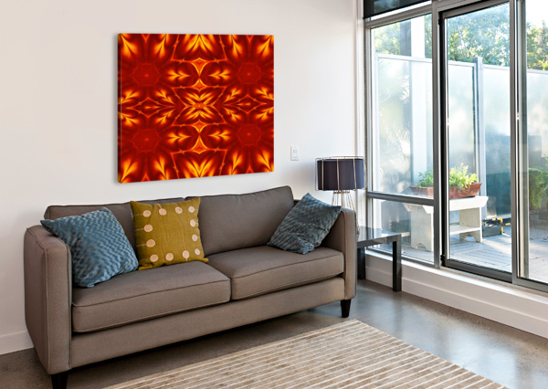FIRE FLOWERS 14 SHERRIE LARCH  Canvas Print