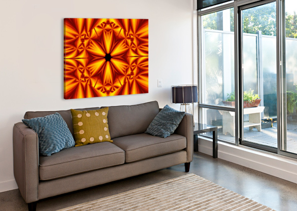 FIRE FLOWERS 103 SHERRIE LARCH  Canvas Print