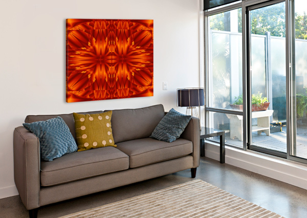 FIRE FLOWERS 189 SHERRIE LARCH  Canvas Print