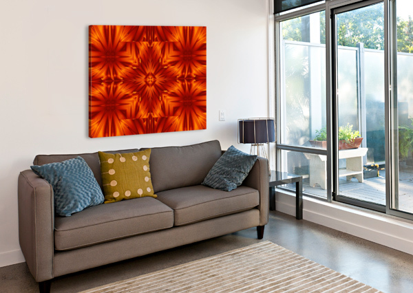 FIRE FLOWERS 191 SHERRIE LARCH  Canvas Print