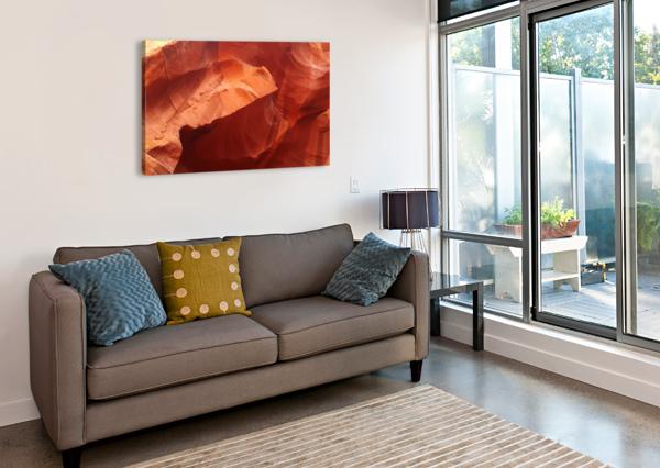 ERODED WALL OF ANTELOPE CANYON  CREATIVE ENDEAVORS - STEVEN OSCHERWITZ  Canvas Print