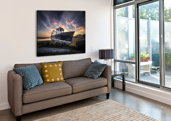 THE OLD FISHING BOAT LEIGHTON COLLINS  Canvas Print