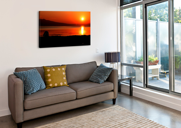 HONEY LAKE SUNRISE BERN E KING PHOTOGRAPHY  Canvas Print