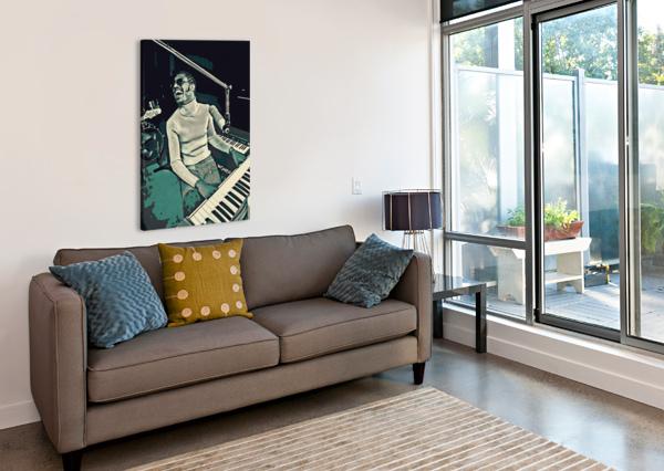 STEVIE_WONDER_11 ADHI BUDI  Canvas Print
