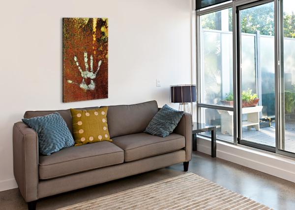 RUSTY DOOR HAND PRINT CARMEL STUDIOS  Canvas Print