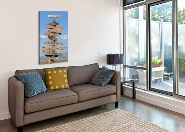 CROSSROADS AT MOAB BROKEN COMPASS LIFE PHOTOGRAPHY  Canvas Print