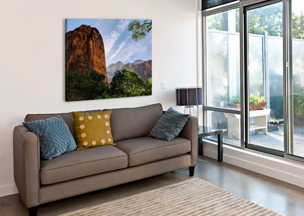 ZION CATCHING RAYS BROKEN COMPASS LIFE PHOTOGRAPHY  Canvas Print