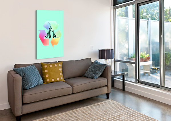 KARMA COLRIZE  Canvas Print