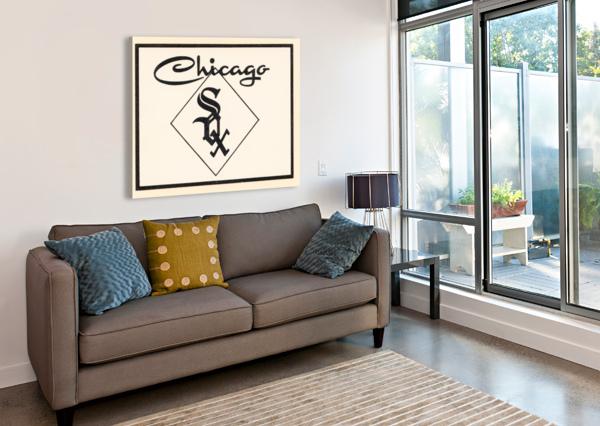 1961 CHICAGO WHITE SOX ART ROW ONE BRAND  Canvas Print