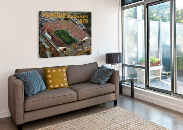 1979 PURDUE ROSS-ADE STADIUM ART ROW ONE BRAND  Canvas Print