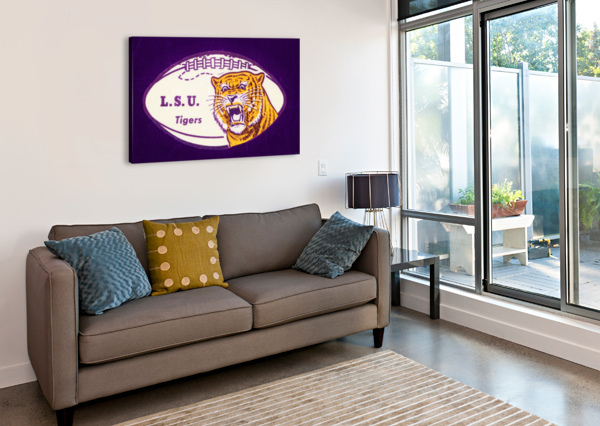 1960S LSU TIGERS FOOTBALL ROW ONE BRAND  Canvas Print